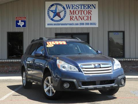 2013 Subaru Outback for sale at Western Motor Ranch in Amarillo TX