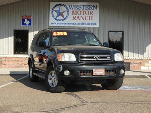 2002 Toyota Sequoia for sale at Western Motor Ranch in Amarillo TX