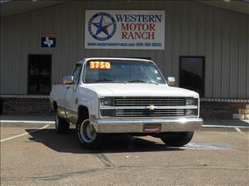 1984 Chevrolet C/K 10 Series for sale at Western Motor Ranch in Amarillo TX