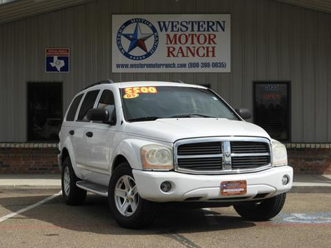 2005 Dodge Durango for sale at Western Motor Ranch in Amarillo TX