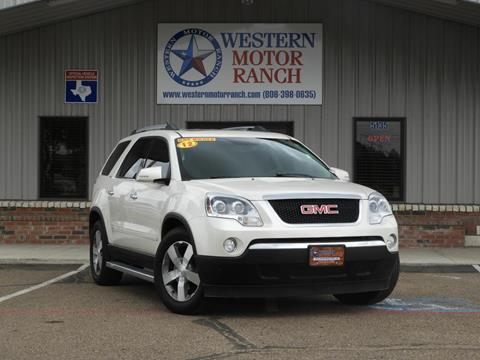2012 GMC Acadia for sale at Western Motor Ranch in Amarillo TX