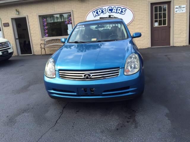 2003 Infiniti G35 for sale at KP'S Cars in Staunton VA