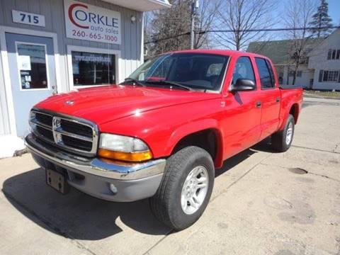 2004 Dodge Dakota for sale at Corkle Auto Sales INC in Angola IN