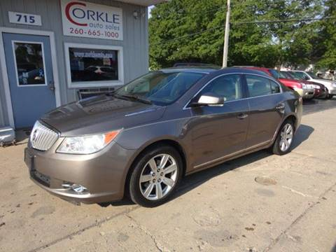 2010 Buick LaCrosse for sale at Corkle Auto Sales INC in Angola IN