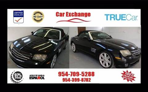 2005 Chrysler Crossfire for sale at CAR EXCHANGE in Hollywood FL