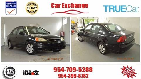 2003 Honda Civic for sale at CAR EXCHANGE in Hollywood FL