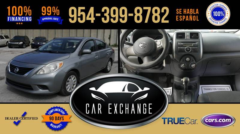 2013 Nissan Versa For Sale At CAR EXCHANGE In Hollywood FL