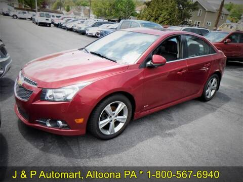 2013 Chevrolet Cruze 2LT Auto for sale at J & P Auto Mart in Altoona PA