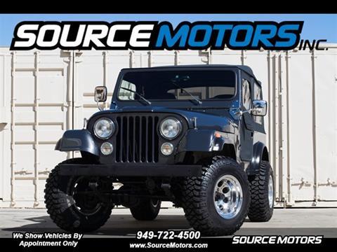 1986 Jeep CJ-7 for sale in Fountain Valley, CA