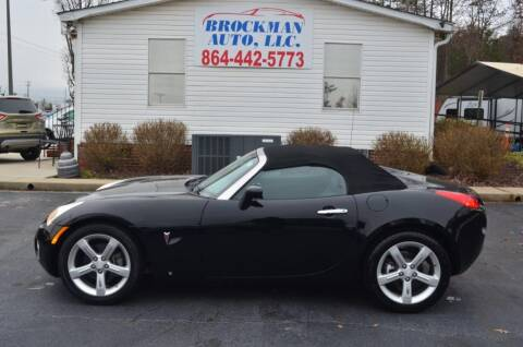 2007 Pontiac Solstice for sale at Brockman Auto LLC in Easley SC