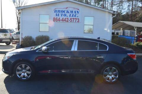 2010 Buick LaCrosse CXL for sale at Brockman Auto LLC in Easley SC