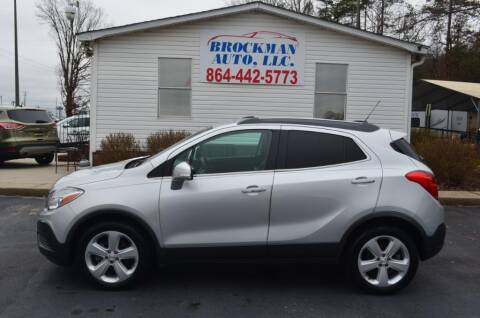 2015 Buick Encore for sale at Brockman Auto LLC in Easley SC