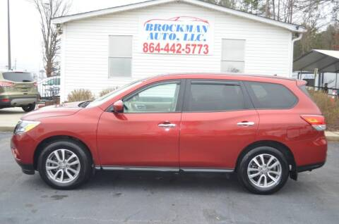 2015 Nissan Pathfinder SL for sale at Brockman Auto LLC in Easley SC