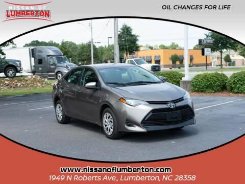 2019 Toyota Corolla for sale at Nissan of Lumberton in Lumberton NC