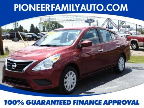 2019 Nissan Versa for sale at Pioneer Family Preowned Autos in Williamstown WV