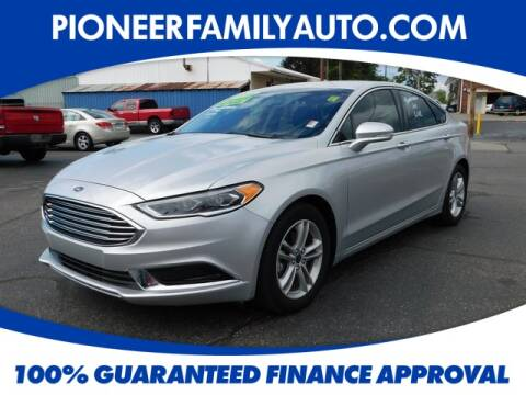 2018 Ford Fusion for sale at Pioneer Family Preowned Autos in Williamstown WV
