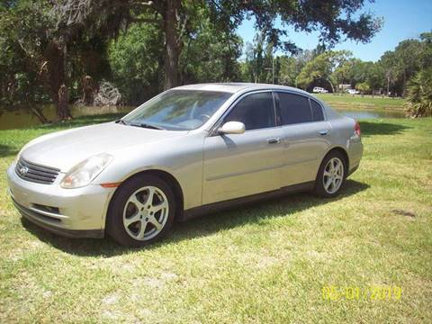 2003 Infiniti G35 for sale at Bargain Auto Mart Inc. in Kenneth City FL