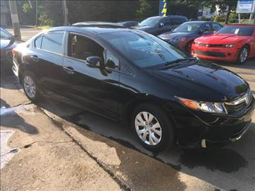 2012 Honda Civic for sale at MELILLO MOTORS INC in North Haven CT