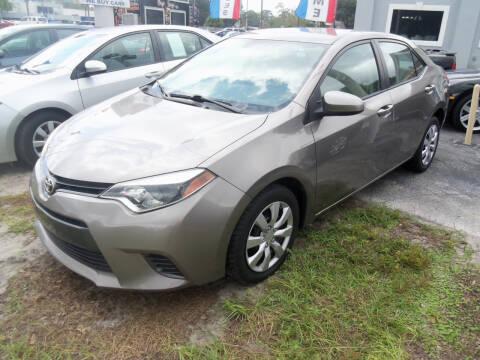 2016 Toyota Corolla for sale at ORANGE PARK AUTO in Jacksonville FL
