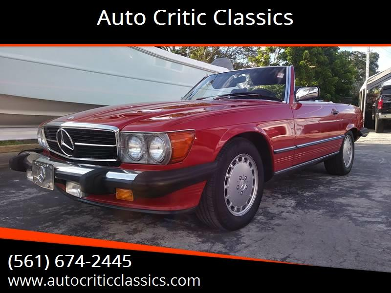 Awesome 1989 Mercedes Benz 560 Class For Sale At Auto Critic Classics In Pompano  Beach
