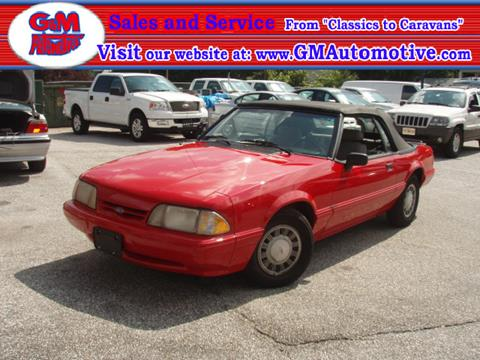 1991 Ford Mustang for sale in Kingsville, MD