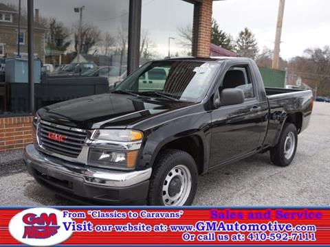 2012 GMC Canyon for sale in Kingsville, MD
