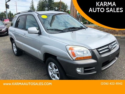 2007 Kia Sportage for sale at KARMA AUTO SALES in Federal Way WA