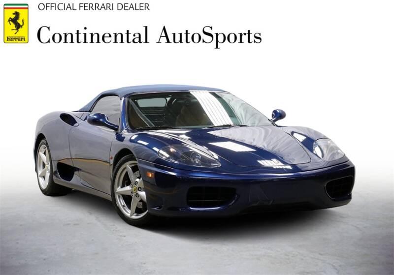 2001 Ferrari 360 Spider for sale at CONTINENTAL AUTO SPORTS in Hinsdale IL