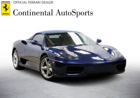2001 Ferrari 360 Spider for sale at CONTINENTAL AUTO SPORTS in Hinsdale IL