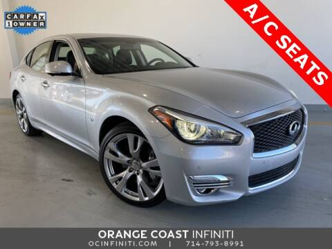 2016 Infiniti Q70 for sale at ORANGE COAST CARS in Westminster CA