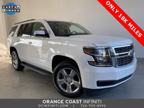 2017 Chevrolet Tahoe for sale at ORANGE COAST CARS in Westminster CA