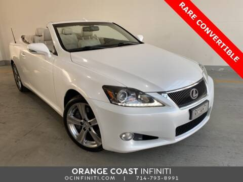 2012 Lexus IS 350C for sale at ORANGE COAST CARS in Westminster CA