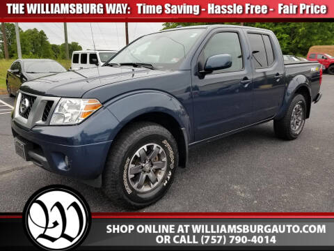 2017 Nissan Frontier PRO-4X for sale at Williamsburg Chrysler Jeep Dodge in Williamsburg VA