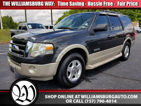 2007 Ford Expedition Eddie Bauer for sale at Williamsburg Chrysler Jeep Dodge in Williamsburg VA