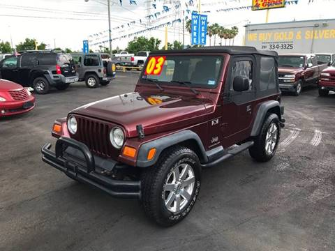 2003 Jeep Wrangler for sale at Texas 1 Auto Finance in Kemah TX