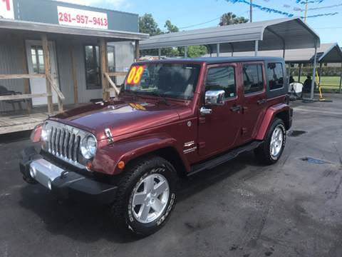 2008 Jeep Wrangler Unlimited for sale at Texas 1 Auto Finance in Kemah TX