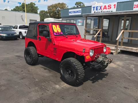 2006 Jeep Wrangler for sale at Texas 1 Auto Finance in Kemah TX
