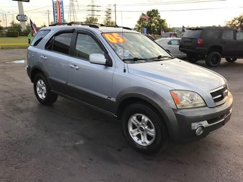 2005 Kia Sorento for sale at Texas 1 Auto Finance in Kemah TX