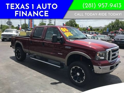 2006 Ford F-250 Super Duty for sale at Texas 1 Auto Finance in Kemah TX