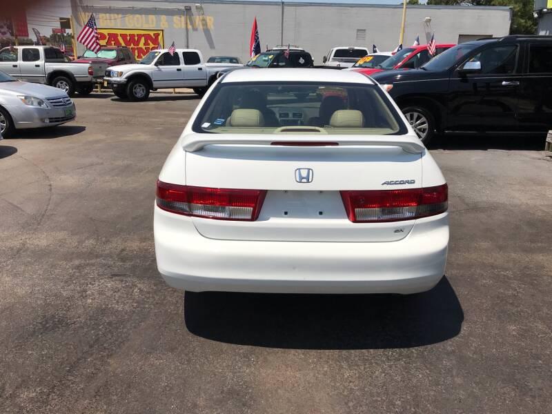 2003 Honda Accord EX 4dr Sedan w/Leather - Kemah TX