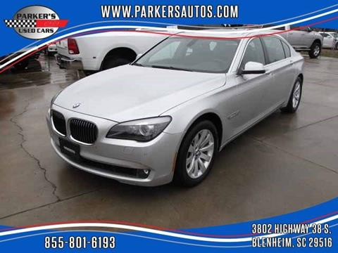 2011 BMW 7 Series for sale at Parker's Used Cars in Blenheim SC