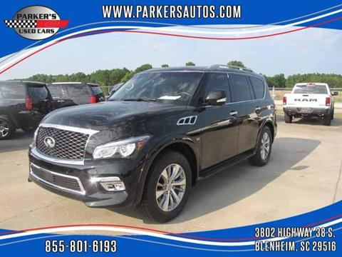 2017 Infiniti QX80 for sale at Parker's Used Cars in Blenheim SC