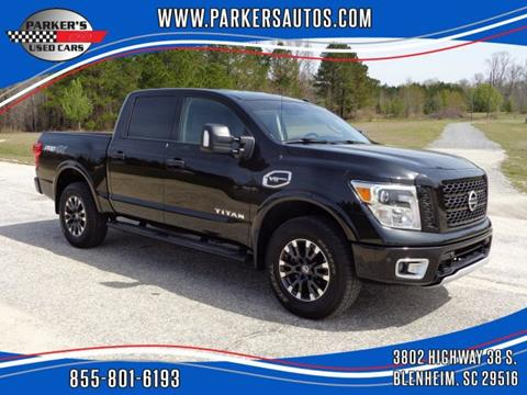 2017 Nissan Titan for sale at Parker's Used Cars in Blenheim SC