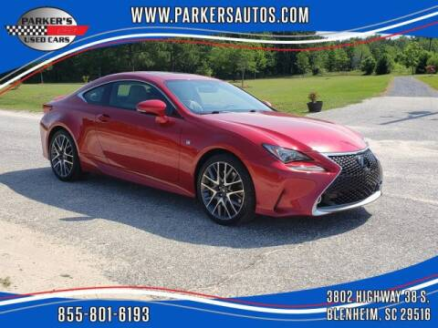 2015 Lexus RC 350 for sale at Parker's Used Cars in Blenheim SC