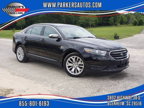 2019 Ford Taurus for sale at Parker's Used Cars in Blenheim SC
