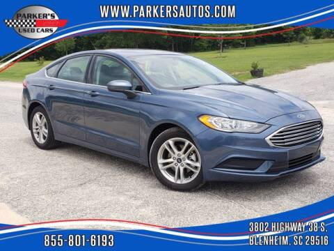 2018 Ford Fusion for sale at Parker's Used Cars in Blenheim SC