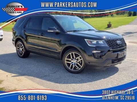 2018 Ford Explorer for sale at Parker's Used Cars in Blenheim SC