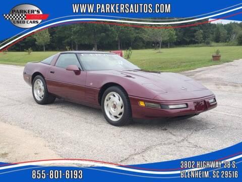 1993 Chevrolet Corvette for sale at Parker's Used Cars in Blenheim SC