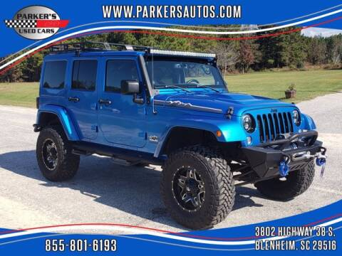 2014 Jeep Wrangler Unlimited for sale at Parker's Used Cars in Blenheim SC