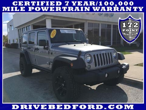 2015 Jeep Wrangler Unlimited for sale in Bedford IN